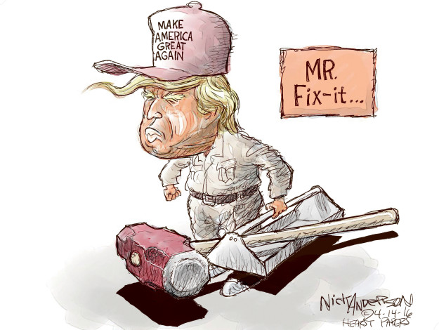 Cartoonist Nick Anderson  Nick Anderson's Editorial Cartoons 2016-04-14 presidential candidate