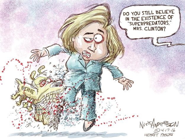 Nick Anderson  Nick Anderson's Editorial Cartoons 2016-04-17 Bernie Sanders