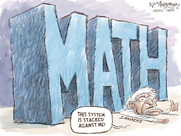 Nick Anderson  Nick Anderson's Editorial Cartoons 2016-04-22 2016 delegate math
