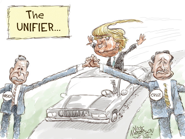 Cartoonist Nick Anderson  Nick Anderson's Editorial Cartoons 2016-04-26 primary election