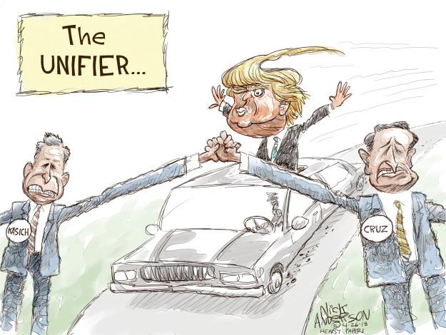 Cartoonist Nick Anderson  Nick Anderson's Editorial Cartoons 2016-04-26 primary election