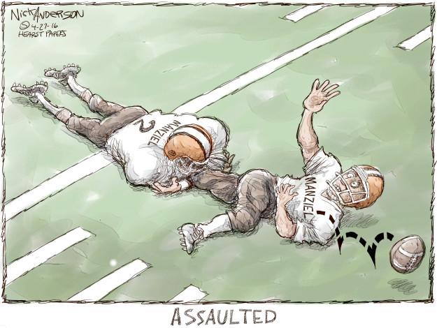 Cartoonist Nick Anderson  Nick Anderson's Editorial Cartoons 2016-04-27 football