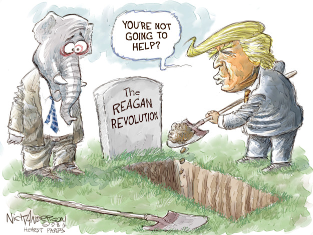 Cartoonist Nick Anderson  Nick Anderson's Editorial Cartoons 2016-05-08 issue policy