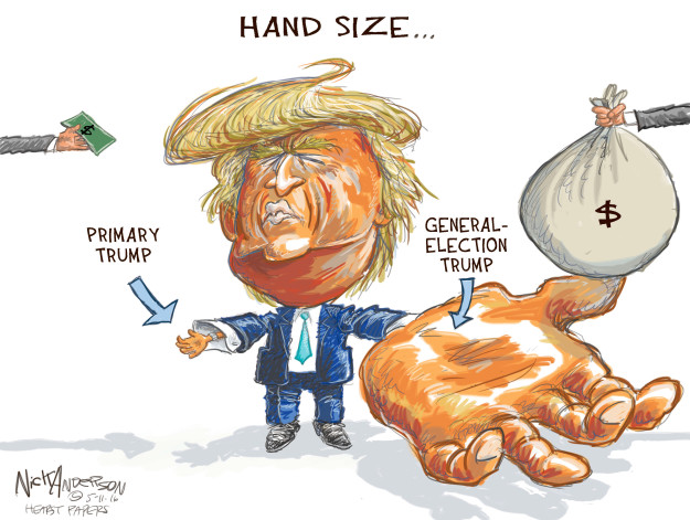 Cartoonist Nick Anderson  Nick Anderson's Editorial Cartoons 2016-05-11 primary election