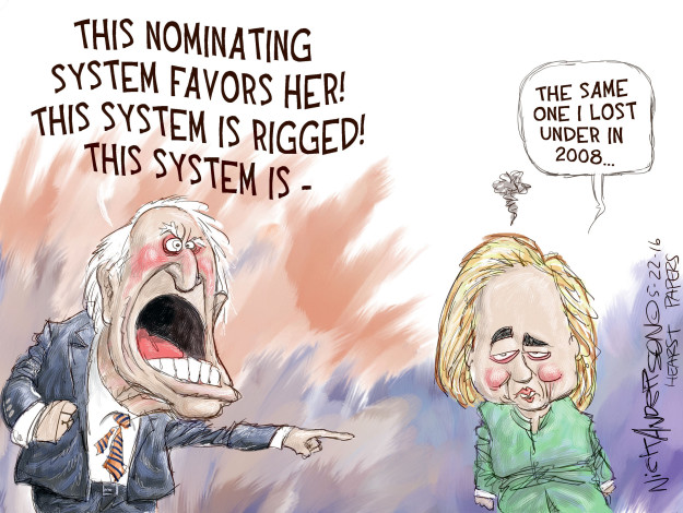 This nominating system favors her! This system is rigged! This system is - The same one I lost under in 2008 …