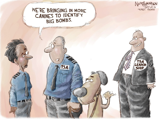 Nick Anderson  Nick Anderson's Editorial Cartoons 2016-05-25 airport security checkpoint