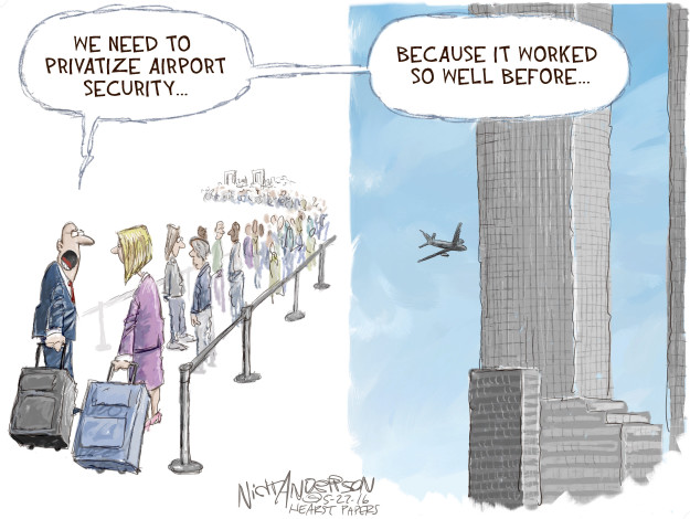 Nick Anderson  Nick Anderson's Editorial Cartoons 2016-05-27 airport security