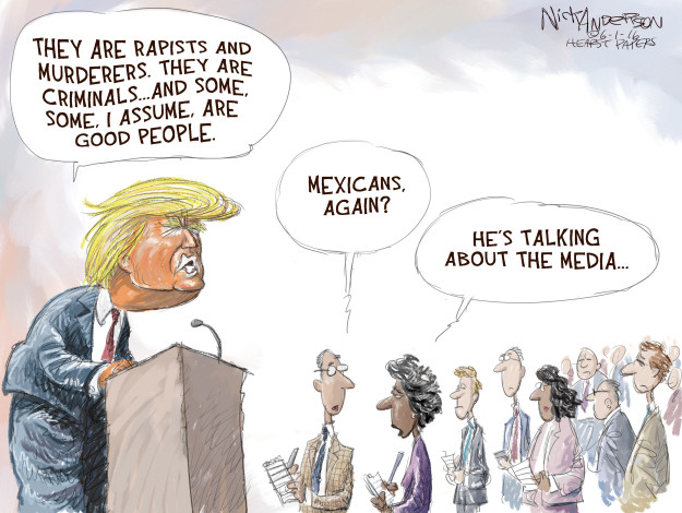 Nick Anderson  Nick Anderson's Editorial Cartoons 2016-06-01 freedom of expression