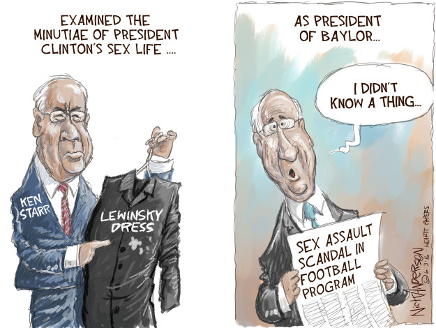 Cartoonist Nick Anderson  Nick Anderson's Editorial Cartoons 2016-06-03 sex