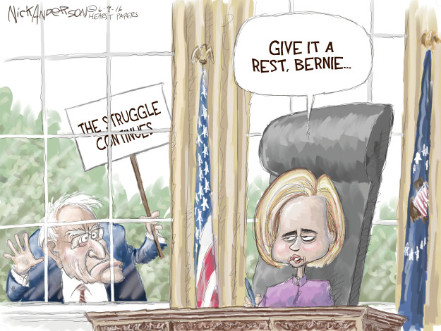 Nick Anderson  Nick Anderson's Editorial Cartoons 2016-06-09 democratic candidate