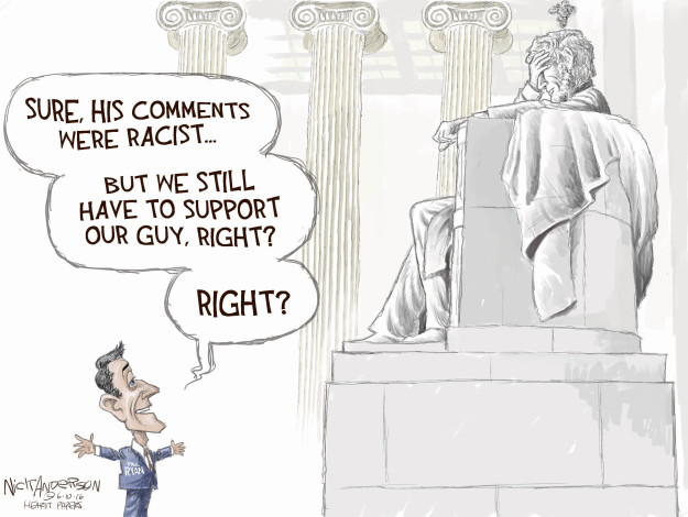 Nick Anderson  Nick Anderson's Editorial Cartoons 2016-06-10 Abraham Lincoln