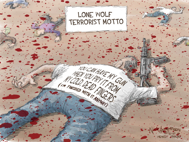 Cartoonist Nick Anderson  Nick Anderson's Editorial Cartoons 2016-06-15 NRA