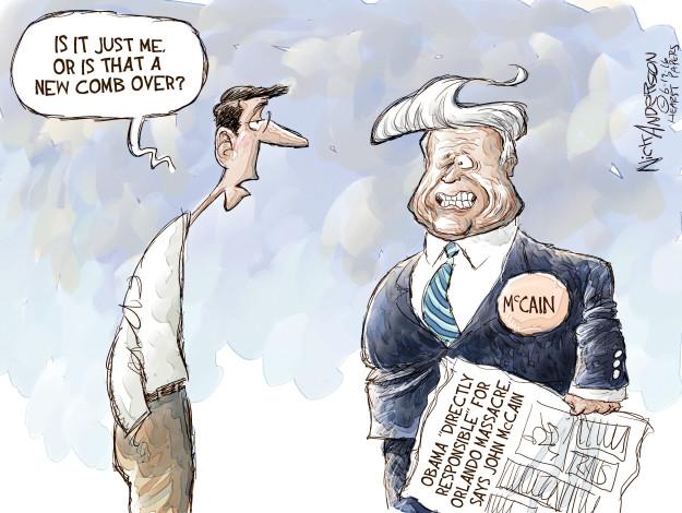 Nick Anderson  Nick Anderson's Editorial Cartoons 2016-06-19 Donald Trump hair