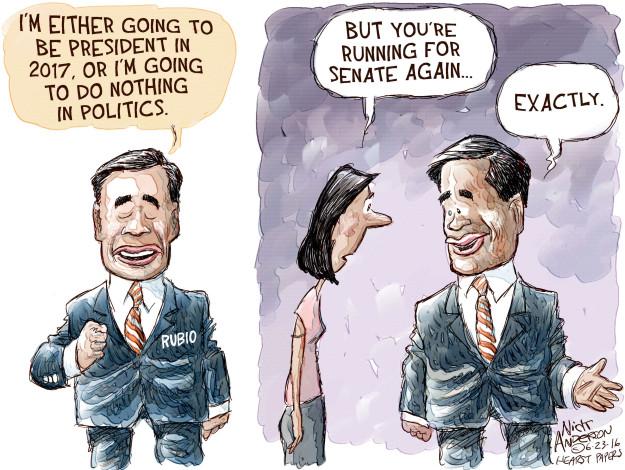 Nick Anderson  Nick Anderson's Editorial Cartoons 2016-06-23 2016 election Marco Rubio