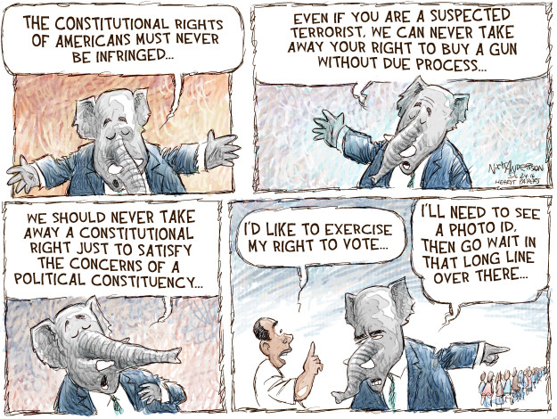 Cartoonist Nick Anderson  Nick Anderson's Editorial Cartoons 2016-06-24 Republican voter