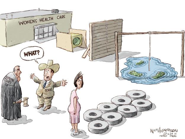 Cartoonist Nick Anderson  Nick Anderson's Editorial Cartoons 2016-06-28 Supreme Court