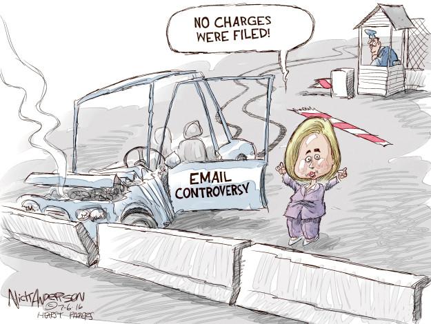 Cartoonist Nick Anderson  Nick Anderson's Editorial Cartoons 2016-07-06 barrier