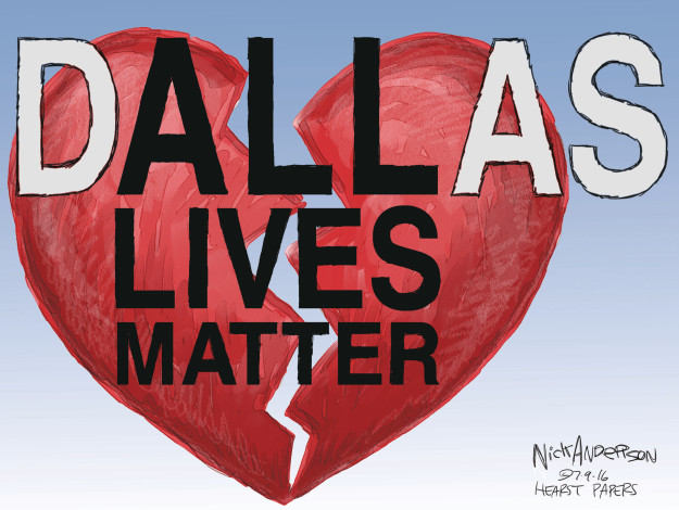 Nick Anderson  Nick Anderson's Editorial Cartoons 2016-07-09 all lives matter