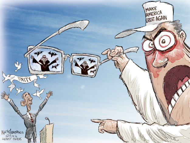 Cartoonist Nick Anderson  Nick Anderson's Editorial Cartoons 2016-07-14 difference