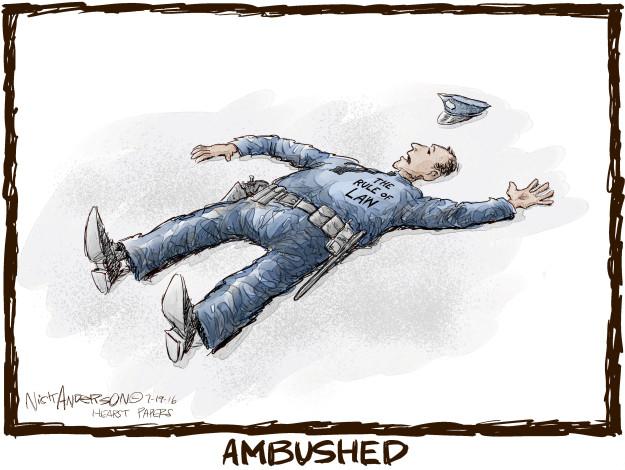 Cartoonist Nick Anderson  Nick Anderson's Editorial Cartoons 2016-07-19 rule of law