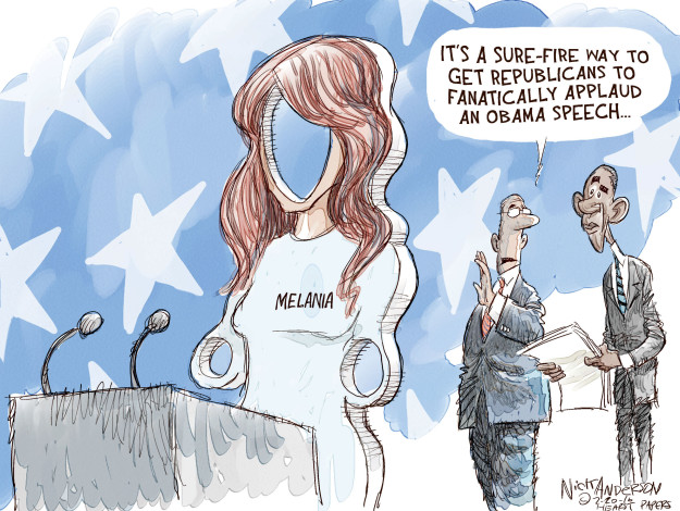 Cartoonist Nick Anderson  Nick Anderson's Editorial Cartoons 2016-07-20 political convention