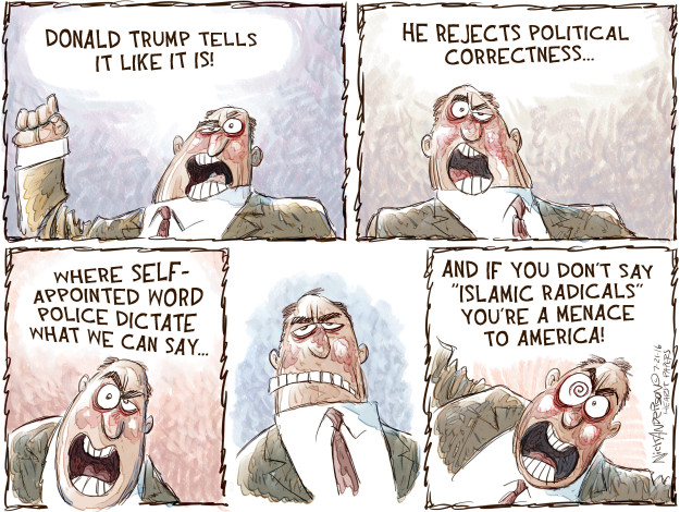 Cartoonist Nick Anderson  Nick Anderson's Editorial Cartoons 2016-07-21 Donald