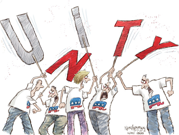 Cartoonist Nick Anderson  Nick Anderson's Editorial Cartoons 2016-07-22 political convention