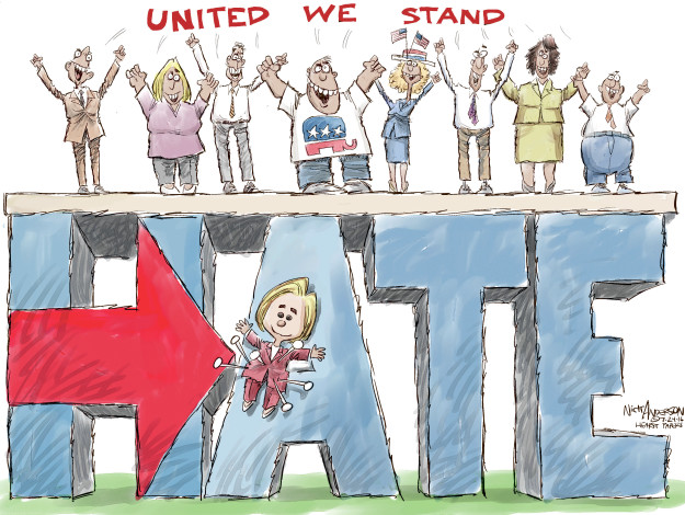 Cartoonist Nick Anderson  Nick Anderson's Editorial Cartoons 2016-07-24 Hillary Clinton