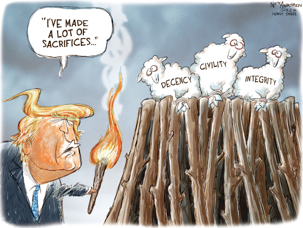 Cartoonist Nick Anderson  Nick Anderson's Editorial Cartoons 2016-08-02 Donald
