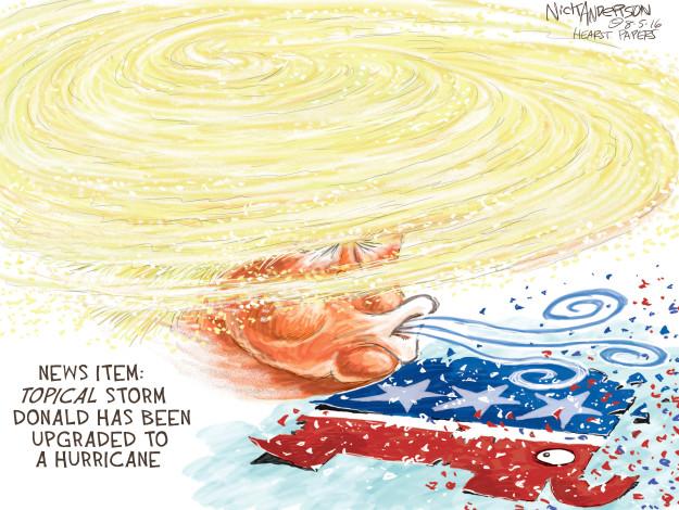Cartoonist Nick Anderson  Nick Anderson's Editorial Cartoons 2016-08-05 hurricane