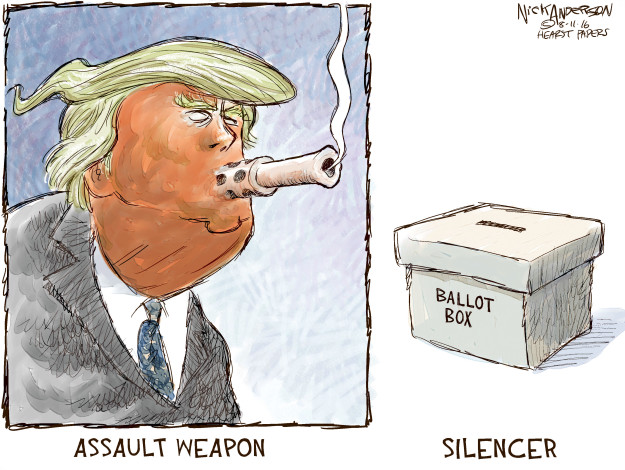 Nick Anderson  Nick Anderson's Editorial Cartoons 2016-08-11 assault weapon