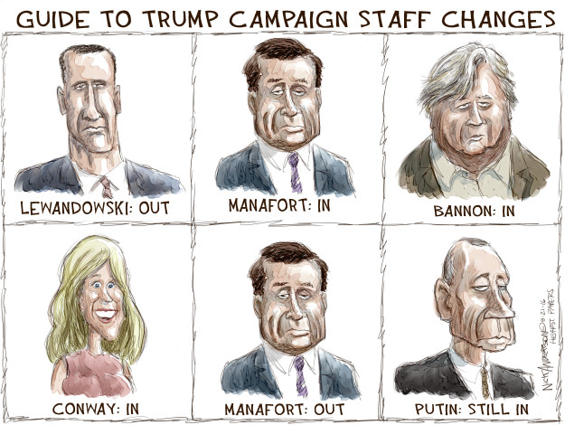 Cartoonist Nick Anderson  Nick Anderson's Editorial Cartoons 2016-08-21 Donald