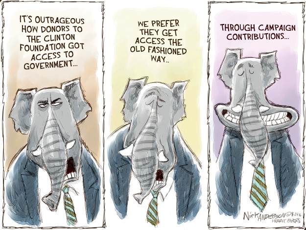 Cartoonist Nick Anderson  Nick Anderson's Editorial Cartoons 2016-08-24 presidential candidate