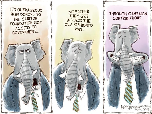 Cartoonist Nick Anderson  Nick Anderson's Editorial Cartoons 2016-08-24 republican politician