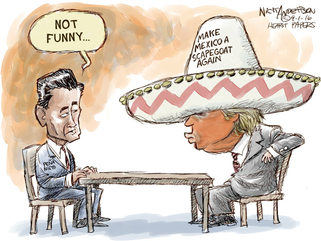 Cartoonist Nick Anderson  Nick Anderson's Editorial Cartoons 2016-09-01 presidential candidate