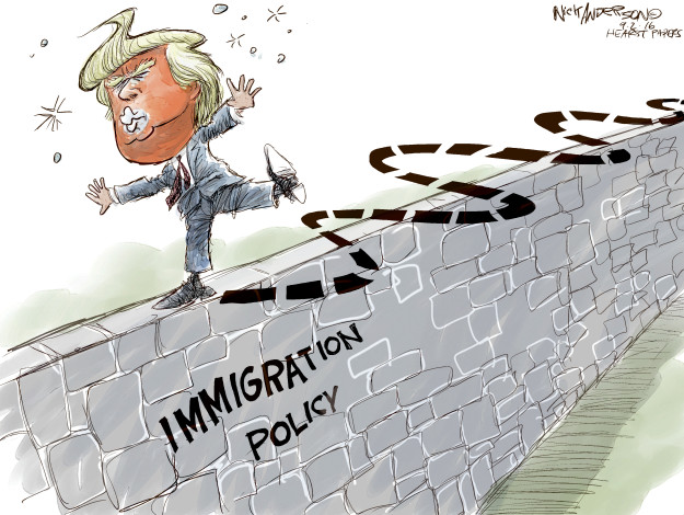 Cartoonist Nick Anderson  Nick Anderson's Editorial Cartoons 2016-09-02 Donald