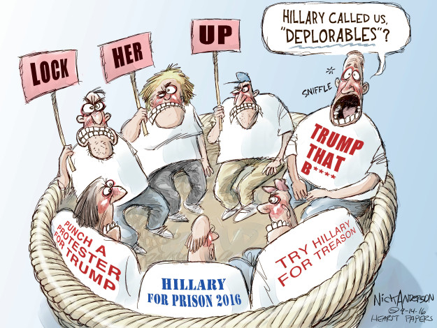 Cartoonist Nick Anderson  Nick Anderson's Editorial Cartoons 2016-09-14 presidential candidate