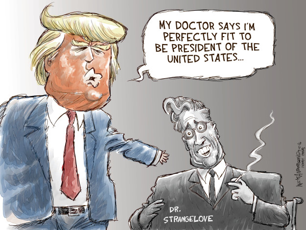 Cartoonist Nick Anderson  Nick Anderson's Editorial Cartoons 2016-09-15 presidential candidate