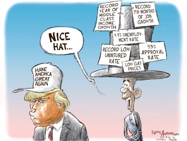 Cartoonist Nick Anderson  Nick Anderson's Editorial Cartoons 2016-09-16 gain