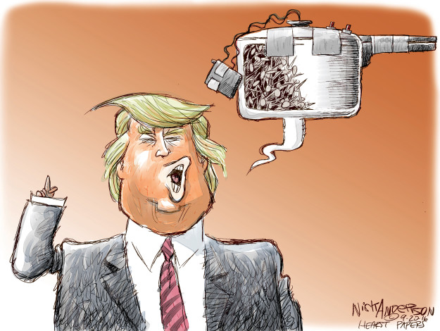 Cartoonist Nick Anderson  Nick Anderson's Editorial Cartoons 2016-09-20 rhetoric