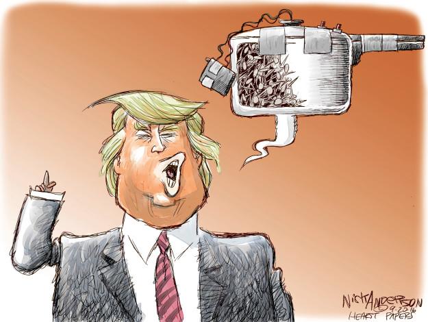 Cartoonist Nick Anderson  Nick Anderson's Editorial Cartoons 2016-09-20 bomb