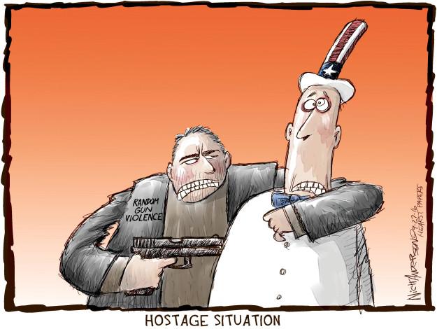 Cartoonist Nick Anderson  Nick Anderson's Editorial Cartoons 2016-09-27 weapon