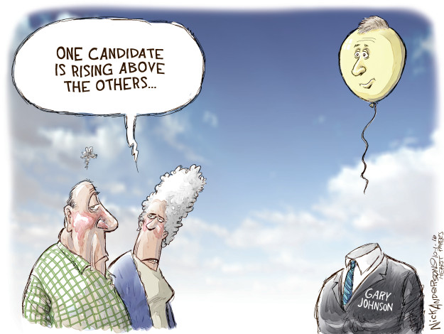 Cartoonist Nick Anderson  Nick Anderson's Editorial Cartoons 2016-10-01 presidential candidate