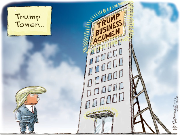 Trump Tower … Trump business acumen.