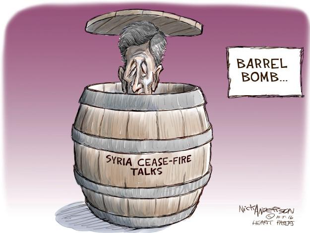 Cartoonist Nick Anderson  Nick Anderson's Editorial Cartoons 2016-10-05 peace