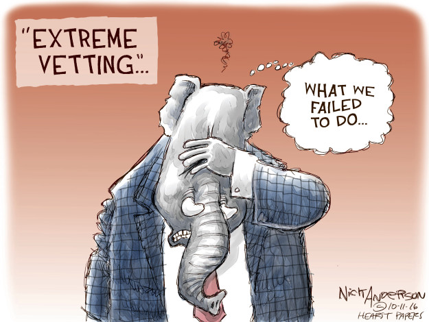 Cartoonist Nick Anderson  Nick Anderson's Editorial Cartoons 2016-10-11 background check