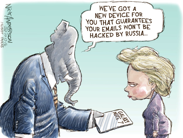Nick Anderson  Nick Anderson's Editorial Cartoons 2016-10-13 democratic candidate