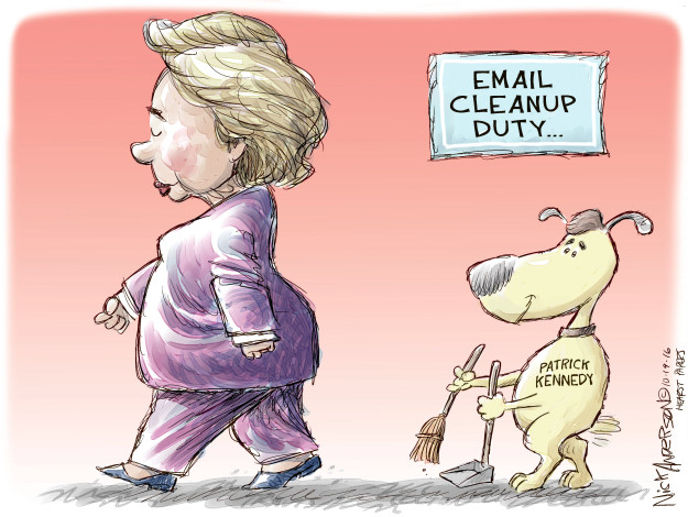 Cartoonist Nick Anderson  Nick Anderson's Editorial Cartoons 2016-10-19 broom