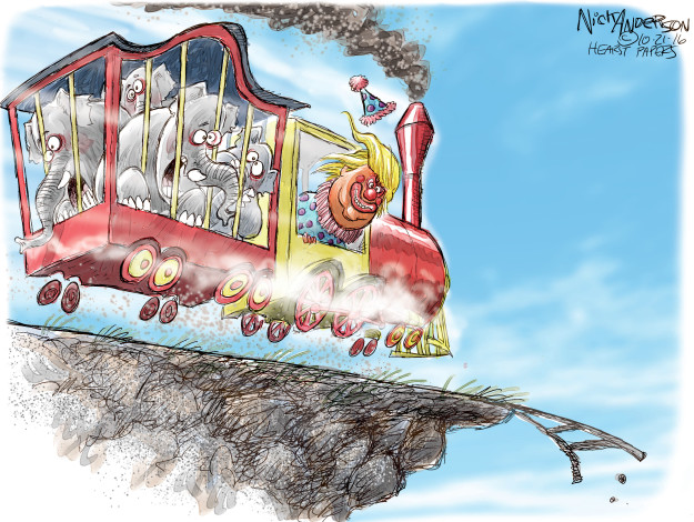 Nick Anderson  Nick Anderson's Editorial Cartoons 2016-10-21 train