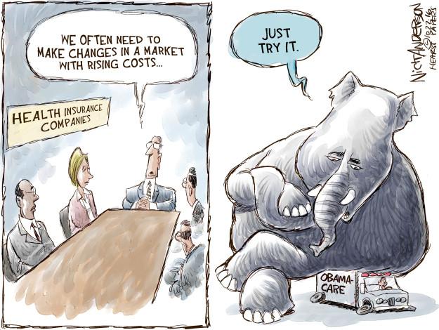 Cartoonist Nick Anderson  Nick Anderson's Editorial Cartoons 2016-10-27 health care policy